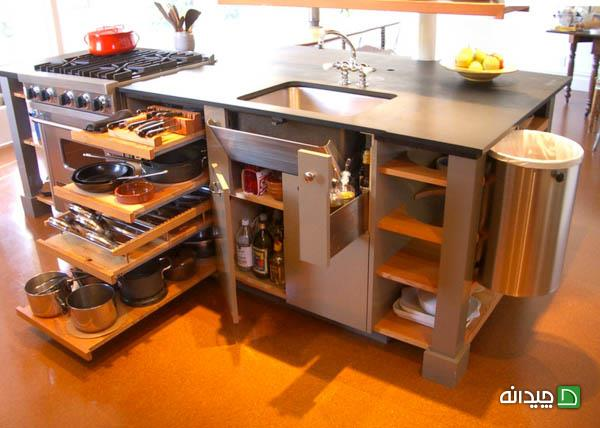 10 ایدهی بزرگ برای آشپزخانه های کوچک